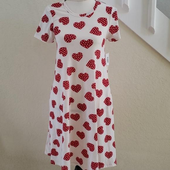 a9134f411077 LuLaRoe Dresses   Jessie Pocket Dress Polka Dot Hearts   Poshmark